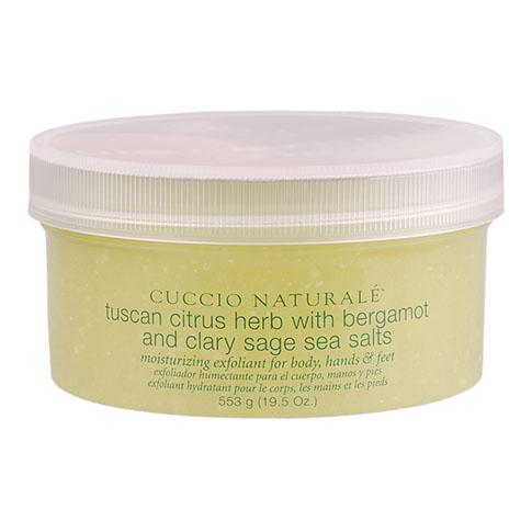 Cuccio tengeri sós bőrradír toszkán citrussal és gyógynövényekkel