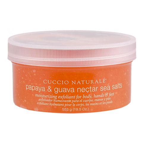 Cuccio tengeri sós bőrradír papayával és guavával